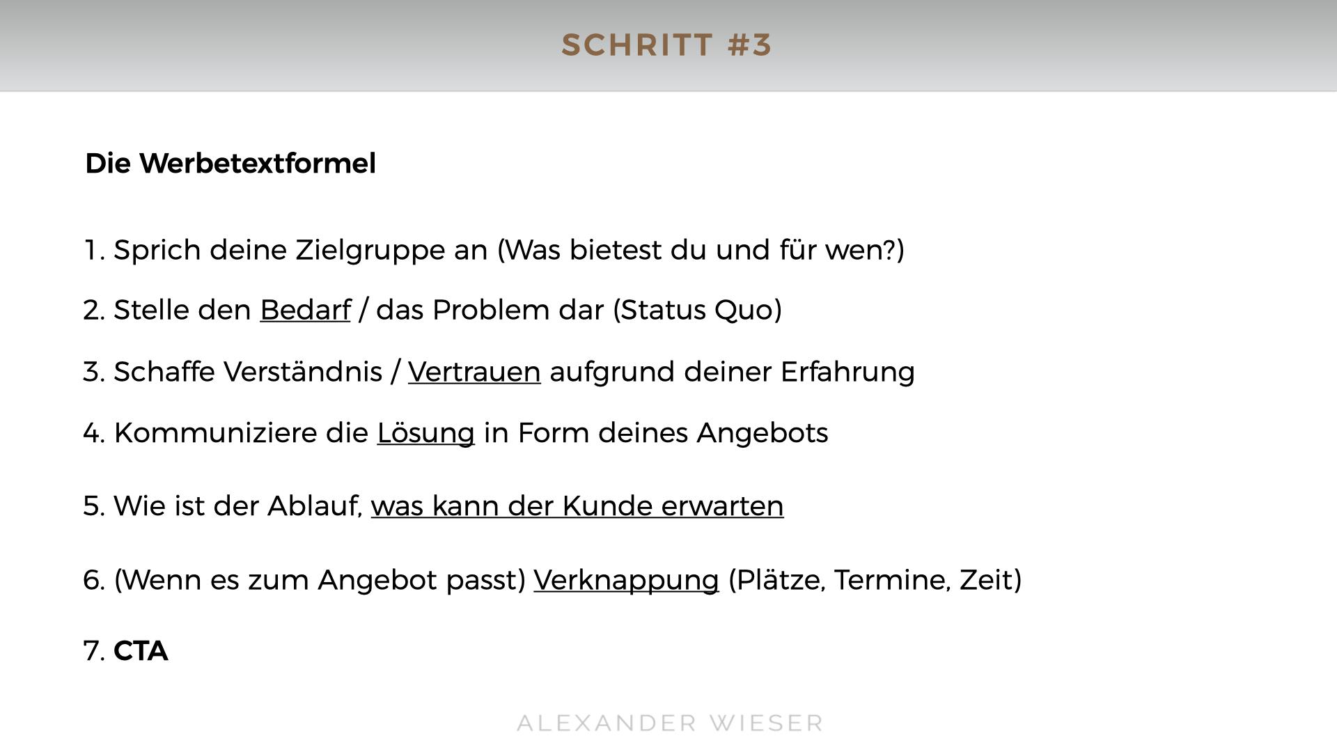 Alexander Wieser Werbetext Copywriting